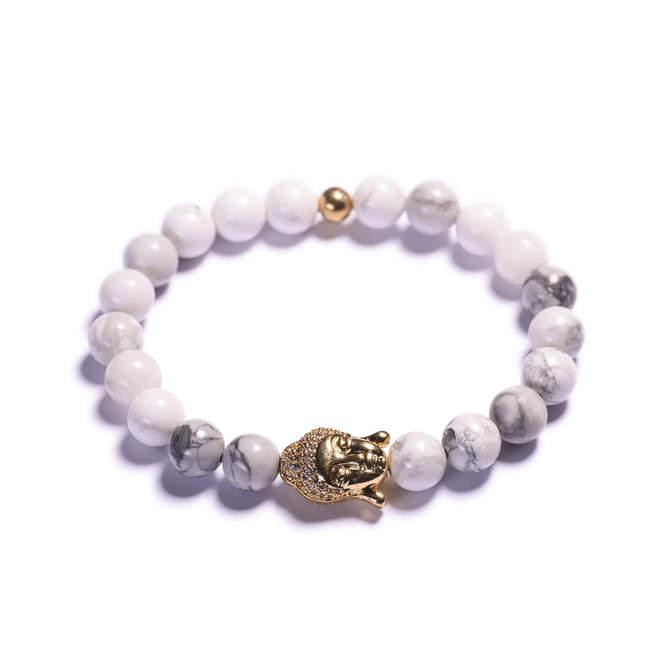 Damsky-koralkovy-naramek-bily-howlite-Buddha-zlato-a.JPG