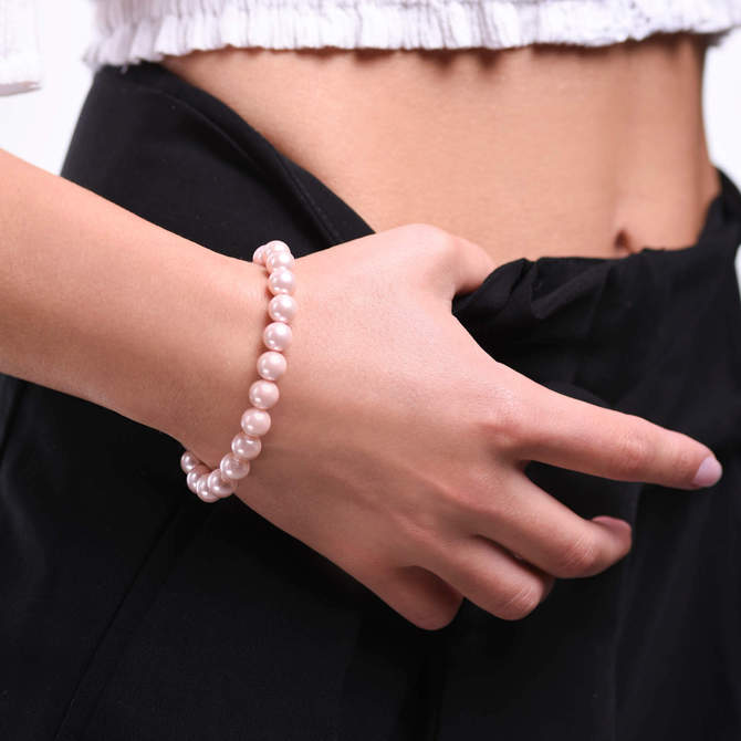 Damsky-perlovy-naramek-ruzove-shell-perly-bile-zlato-ruka.jpg