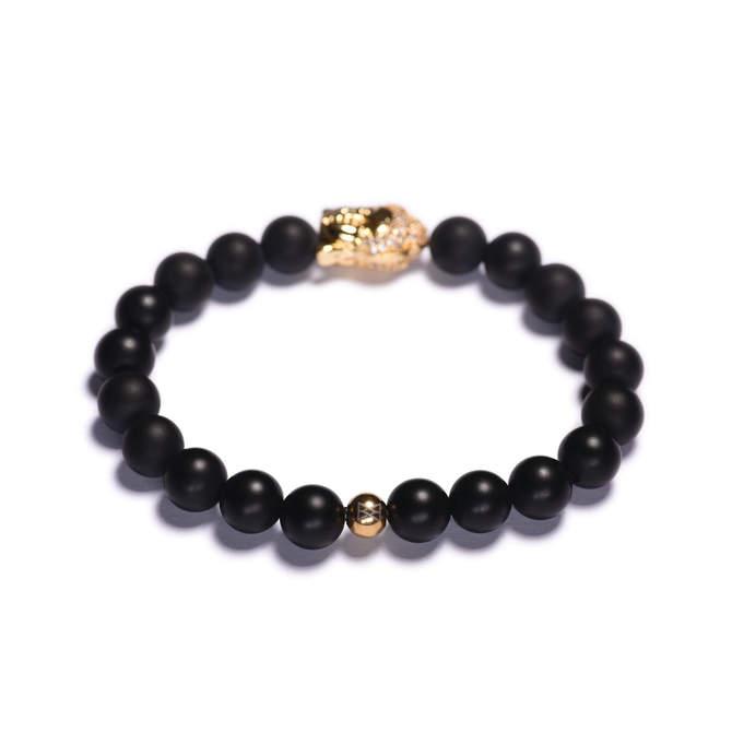 Koralkovy-naramek-cerny-matny-achat-Buddha-zlato-b.JPG