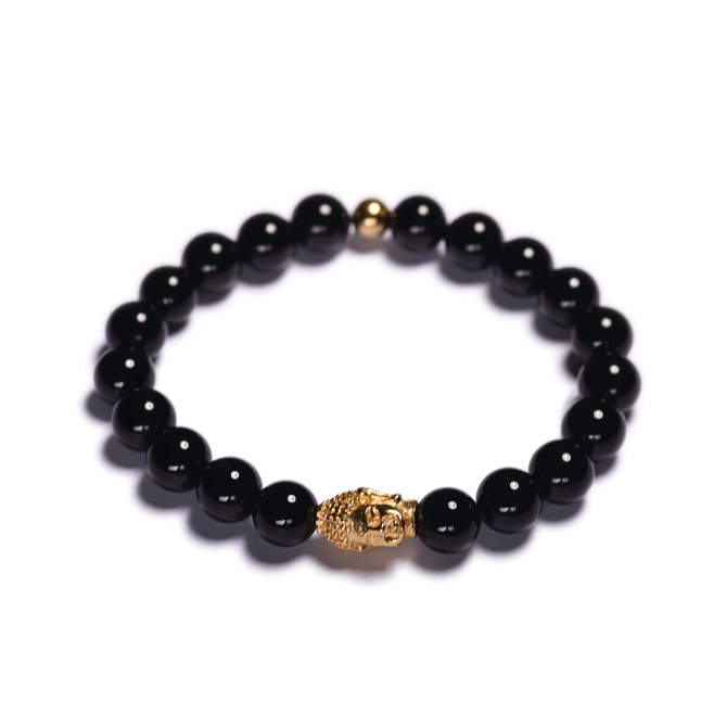 Koralkovy-naramek-cerny-leskly-achat-Buddha-zlato-a.JPG