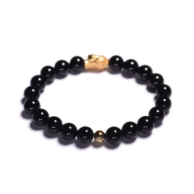 Koralkovy-naramek-cerny-leskly-achat-Buddha-zlato-b.JPG