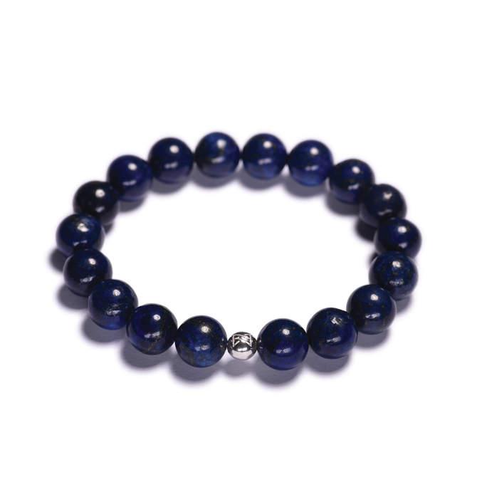 Pansky-koralkovy-naramek-10mm-modry-lapis-lazuli-bile-zlato-b.JPG