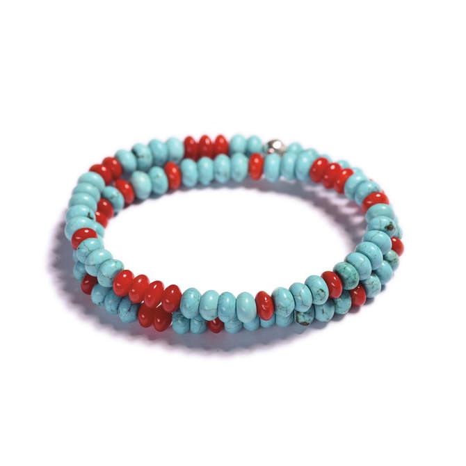 Pansky-koralkovy-wrap-naramek-modry-tyrkys-cerveny-koral-bile-zlato-a.JPG